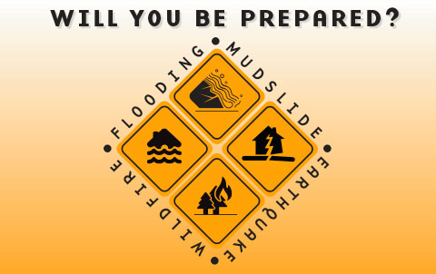 Will You Be Prepared? Earthquake, Flooding, Mudslide, Wildfire