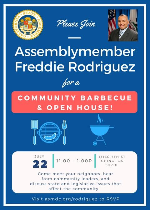 Summer BBQ and Open House Flyer