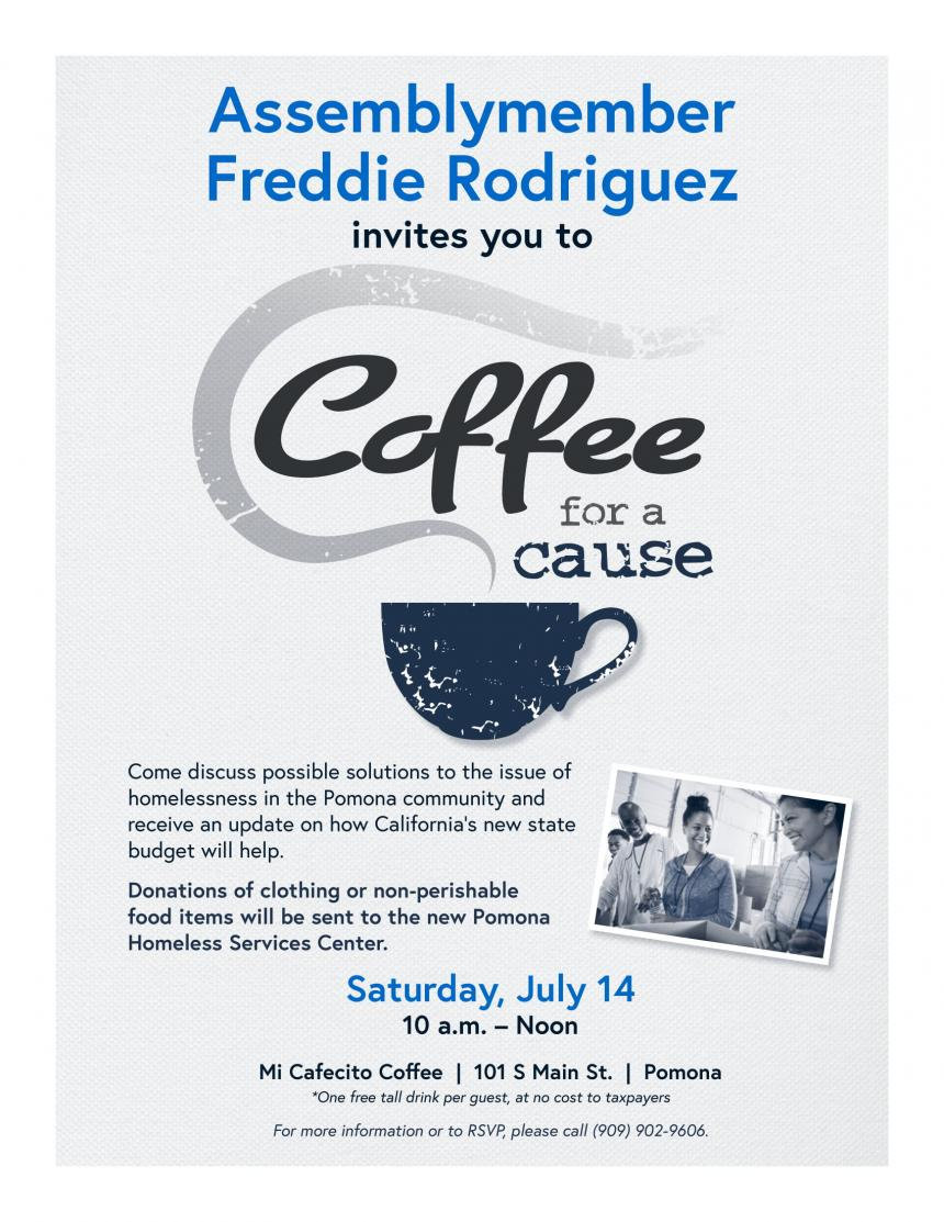 Coffee with a Cause Flyer