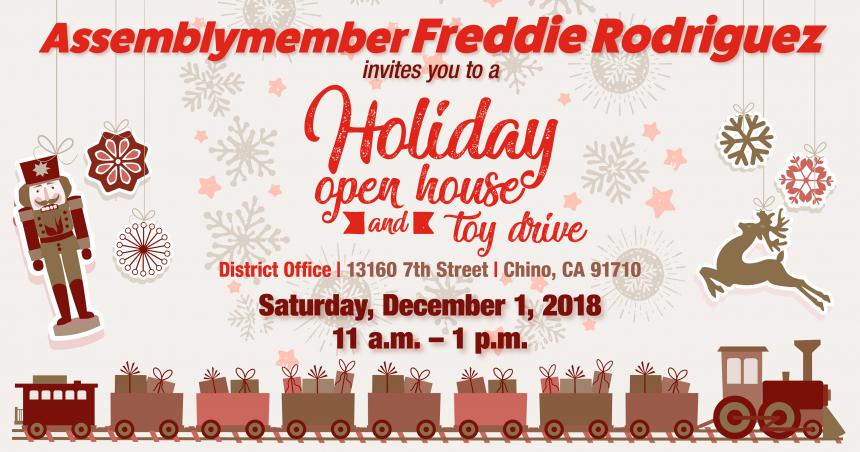 Holiday Open House and Toy Drive Digital Flyer