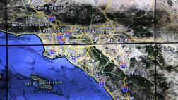 Weather map of California